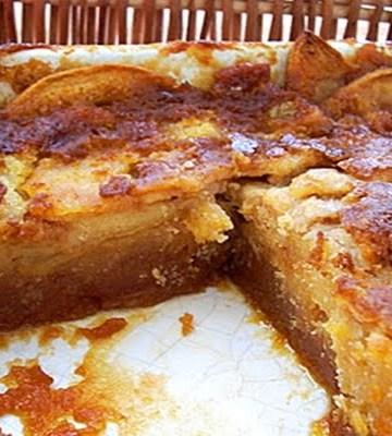 Receita de Bolo Molhado de maçã com caramelo