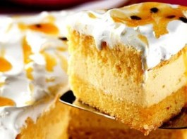 Receita de Bolo de Maracujá com Marshmallow