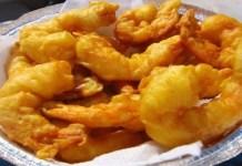 Camarões empanados com Maionese ao shoyu