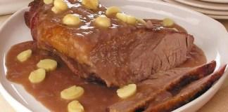 Receita de Carne assada ao molho madeira