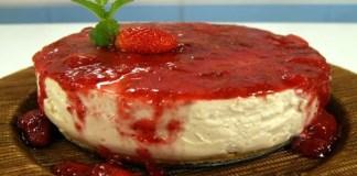 Receita de Cheesecake Light de Tofu