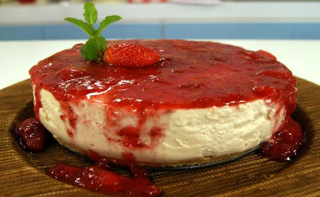 Receita de Cheesecake Light de Tofu