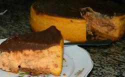 Receita de Cheesecake de Chocolate com Cenoura