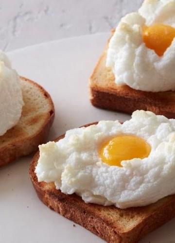 Receita de Cloud Eggs ovos em nuvem