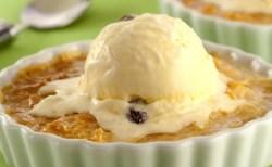 Receita de Cocada gratinada com sorvete