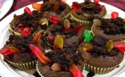 Receita de Cupcake de minhocas na terra