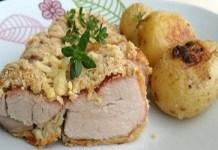 Receita de Filé mignon suíno empanado e assado