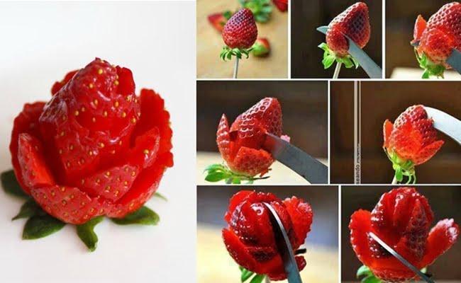 Flores de Morango para Decoração