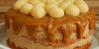 Receita de Naked Cake de Ninho Trufado