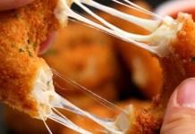 Onion rings recheadas com queijo
