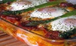 Receita de Ovos no forno a Espanhola