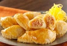 Receita & Imagem: Pastelzinho de Presunto e Fios de Ovos – Ambos de propriedade única e exclusiva da Sole