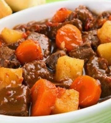 Receita de Picadinho de Carne com Legumes