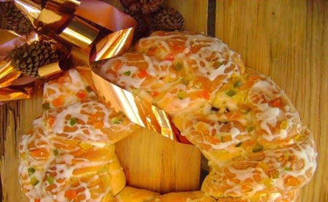 Receita de Rosca doce natalina