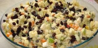 Receita de Salada de Legumes com Maçã