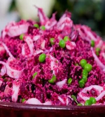 Receita de Salada de Couscous com Beterraba e Frutos do Mar