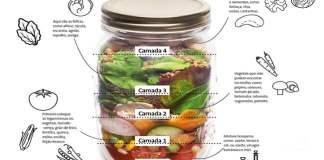 Receita de Salada de pote como montar 11 receitas