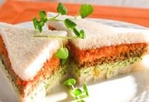 Receita de Sanduíche de Pão de Miga com Pasta de Tomate e Agrião