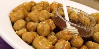 Struffoli ou pingos de mel