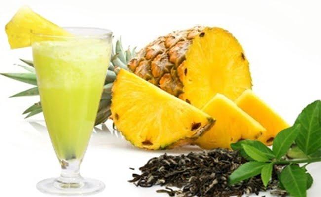 Receita de Sucos Detox de Abacaxi