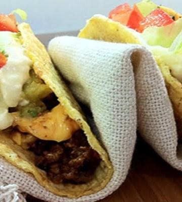 Receita de Tacos de Mandioca com Creme de Queijo