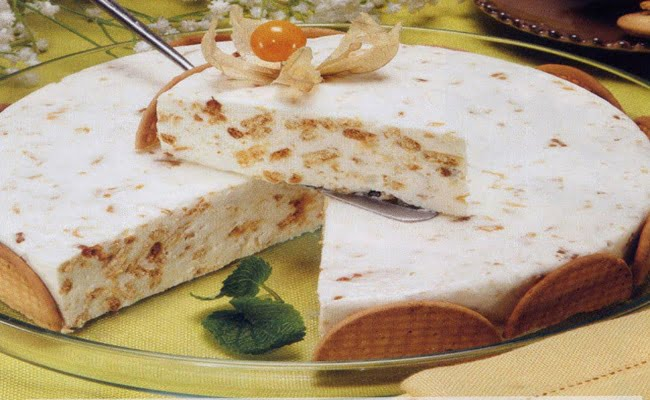Receita de Torta Fresca de Bolacha