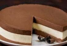 Receita de Torta Mousse 3 Sabores