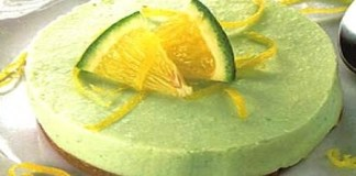 Receita de Torta Mousse de Limão Diet
