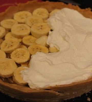 Receita de Torta de Doce de Leite com Banana e Chocolate