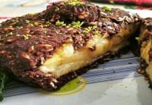 Torta de banana crocante