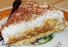 Receita de Torta de Banana com Chantilly
