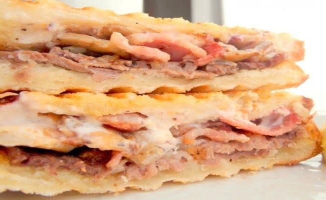 Receita de Tosta de Carne Assada e Bacon