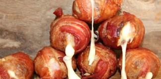 Almondegas de Bacon com Queijo
