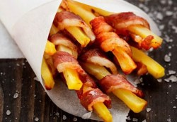 Receita de Batata Doce Frita com Bacon