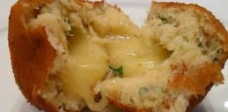 Bolinho de Bacalhau com queijo