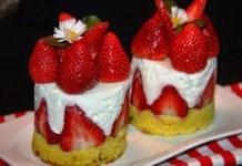 Receita de Mini Tortas de Morango