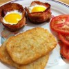 Receita de Muffim de Bacon e Ovos