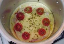Receita de Pizza de Panela de Pressão