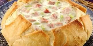 receita de sopa no pão