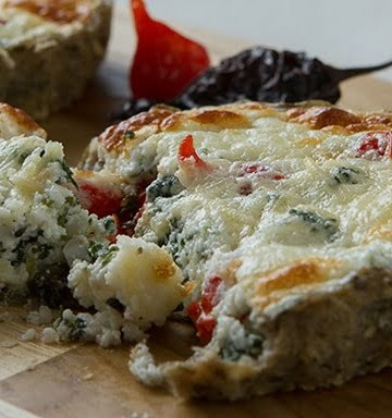 Receita de Torta Light de Espinafre com Biomassa