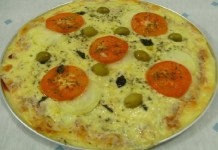 Receita Pizza de Arroz
