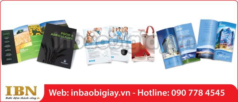 in brochure chất lượng cao và việc yêu cầu để có chất lượng