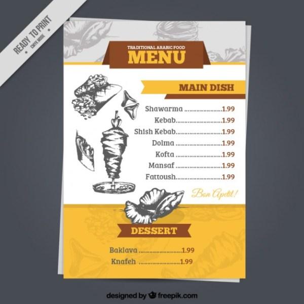 in nhanh menu cho nhà hàng giá rẻ