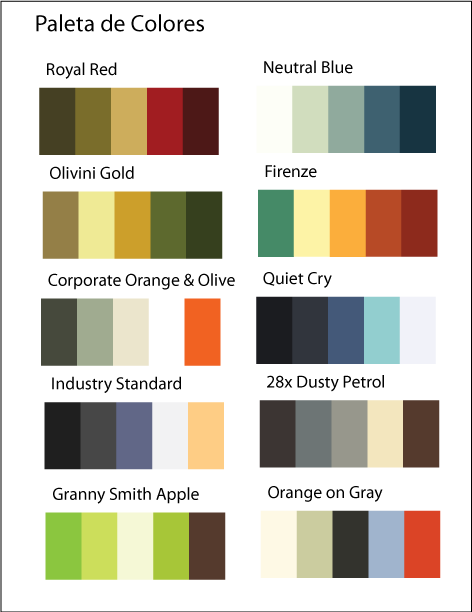 Paleta de colores para imagen corporativa  xware group