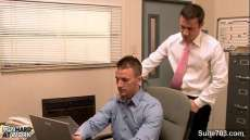Gay Porn V Gorgeous gay gets ass banged in the office Gay Interracial Xvideos