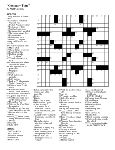 Crossword Puzzles to Print: June 2013