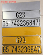 ISO7591 Number Plate Reflective Sheeting Test Requirement