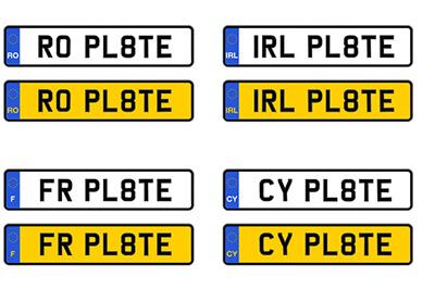 Retroreflective european number plates films XW 7201