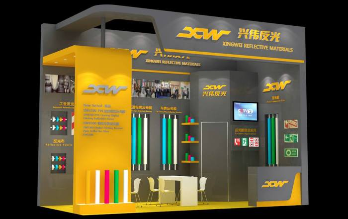 XW reflective booth at APPPEXPO 2019
