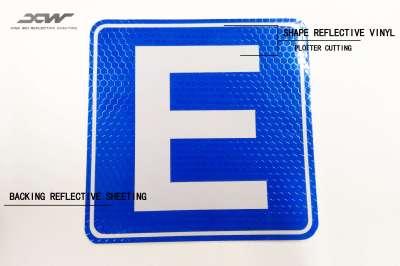Plotter Cuting traffic sign Reflective Sticker